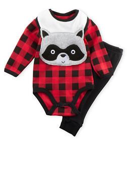 Baby Boy Bodysuit with Joggers and Bib Set - 5506004562472