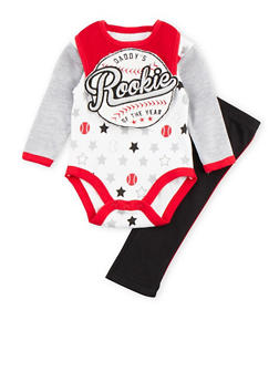 Baby Boy 3-Piece Set in Baseball Print - 5506004562476