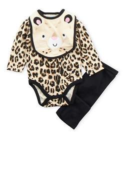 Baby Girl 3-Piece Set in Leopard Print - 5506004562491