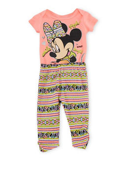 Baby Girl Minnie Mouse Bodysuit and Leggings Set - 5506017725646