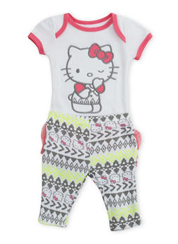 Baby Girl Hello Kitty Bodysuit and Leggings Set - 5506050090500
