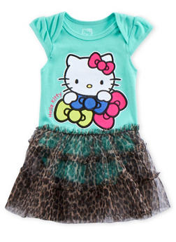Baby Girl Hello Kitty Bodysuit with Tutu - 5506050090534