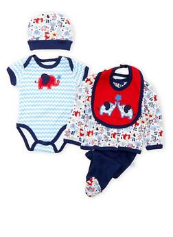 Baby Boy Printed 5-Piece Set - 5506054735159