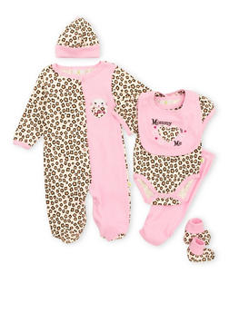 Baby Girl Assorted 6-Piece Set in Animal Print - 5506054737116