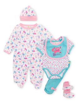 Baby Girl Assorted 6-Piece Set - 5506054737118