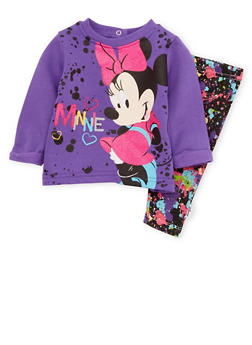 Baby Girl Minnie Mouse Graphic Top and Leggings - 5506073450036