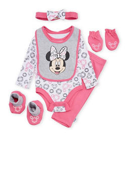 Baby Girl Minnie Mouse 6 Piece Set - 5506073450047