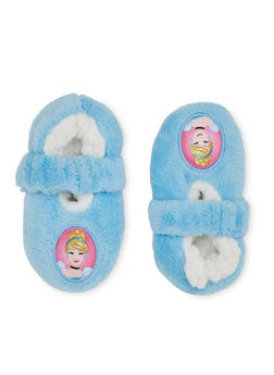 Baby Girls Fuzzy Slippers with Character Toe Box - 5564055320010