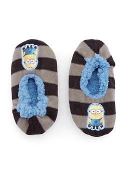 Boys Minions Slippers - GRAY - 5565055320003