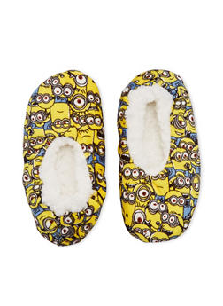Boys Minions Slippers - YELLOW - 5565055320003