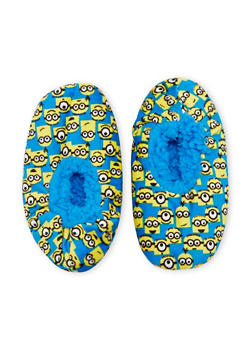Boys Minions Slippers - BLUE - 5565055320003