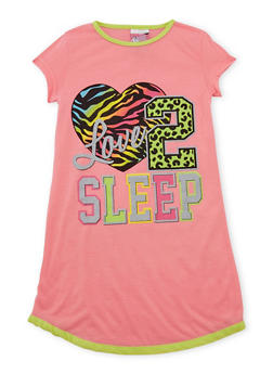 Girl 4-14 Nightgown with Graphic - CANDY PINK - 5568054730554