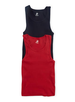 Boys 12-18 Ribbed Tank Top Two-Pack - 5569054730225