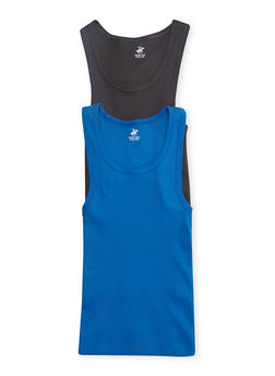 Boys 12-18 Ribbed Tank Top Two-Pack - BLUE - 5569054730225