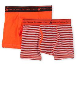 Boys 4-18 BHPC Boxer Brief 2 Pack - ORANGE - 5569054730231