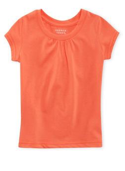 Girls 4-6x French Toast Short Sleeve Orange Crew Neck Tee - 5603068320009
