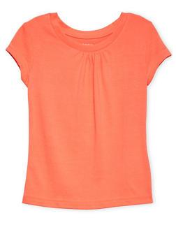 Girls 4-6x Orange Short Sleeve Crew Neck Tee - 5603068320010