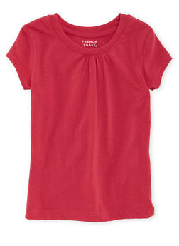 Girls 4-6x French Toast Pink Short Sleeve Crew Neck Tee - 5603068320011