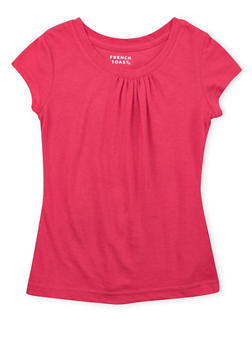 Girls 4-6x French Toast Top with Ruched Crew Neck - 5603068320012