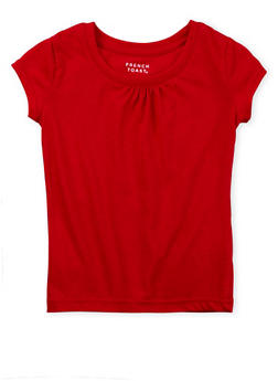 Girls 4-6x French Toast T-Shirt with Shirred Detail - 5603068320015