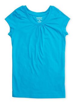 Girls 7-16 French Toast Short Sleeve Magenta Crew Neck Tee - 5604068320016