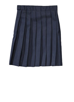 Girls 4-6X Below the Knee Pleated Skirt School Uniform - NAVY - 5804008930020