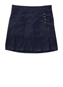 Girls 4-6X French Toast Two Tab Scooter School Uniform - NAVY - 5805008930020