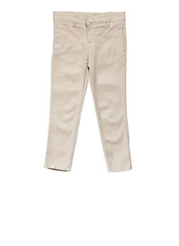 Girls 4-6X Skinny Stretch Twill Pant School Uniform - KHAKI - 5806008930021