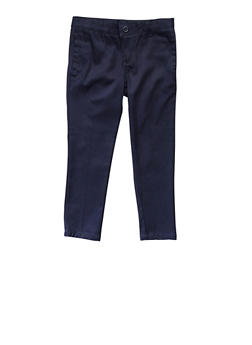 Girls 4-6X Skinny Stretch Twill Pant School Uniform - NAVY - 5806008930021