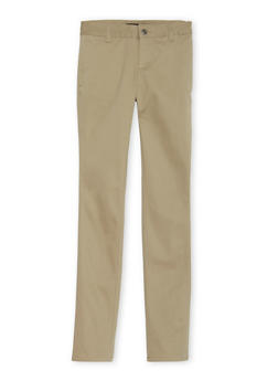Juniors School Uniform Skinny Leg Chino Pants - KHAKI - 5809008930020