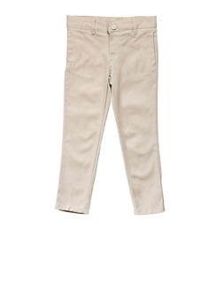 Girls 7-14 Adjustable Waist Pant School Uniform - KHAKI - 5817008930030