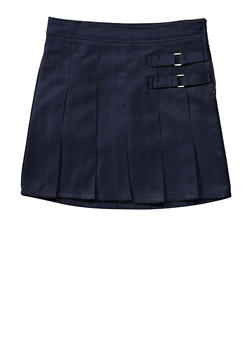 Girls 16-20 Two Tab Scooter School Uniform - NAVY - 5827008930020