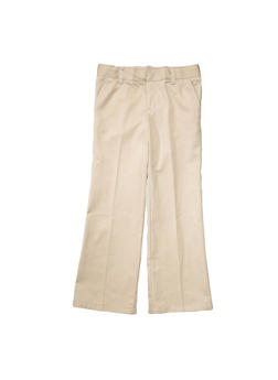 Girls 16-20 Adjustable Waist Pant School Uniform - KHAKI - 5828008930020