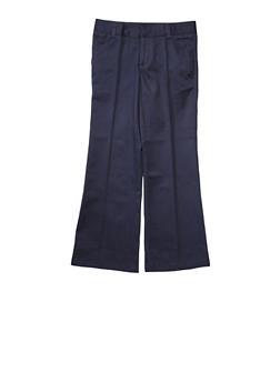 Girls 16-20 Adjustable Waist Pant School Uniform - NAVY - 5828008930020