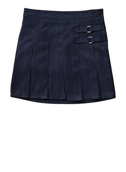 Girls Plus Size Two Tab Scooter School Uniform - NAVY - 5838008930020