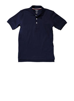 Boys 4-7 Short Sleeve Pique Polo School Uniform - NAVY - 5851008930050