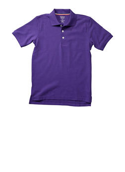 Boys 4-7 Short Sleeve Pique Polo School Uniform - PURPLE - 5851008930050