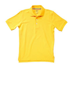 Boys 4-7 Short Sleeve Pique Polo School Uniform - YELLOW - 5851008930050