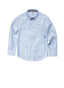 Boys 4-7 Long Sleeve Oxford School Uniform Shirt - 5852008930020