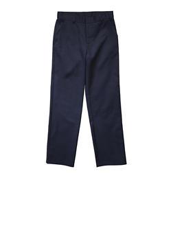 Boys 4-7 Adjustable Waist Straight Leg Twill School Uniform Pants - NAVY - 5855008930051