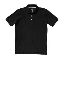 Boys 8-14 Short Sleeve Pique Polo School Uniform - BLACK - 5861008930050