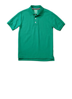 Boys 8-14 Short Sleeve Pique Polo School Uniform - HUNTER - 5861008930050