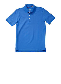 Boys 8-14 Short Sleeve Pique Polo School Uniform - RYL BLUE - 5861008930050