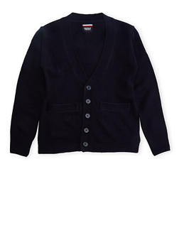 Boys 8-14 Cardigan Sweater School Uniform - NAVY - 5866008930021