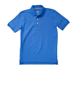 Boys 16-20 Short Sleeve Pique Polo School Uniform - RYL BLUE - 5871008930050