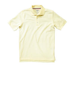 Boys 16-20 Short Sleeve Pique Polo School Uniform - GOLD - 5871008930050