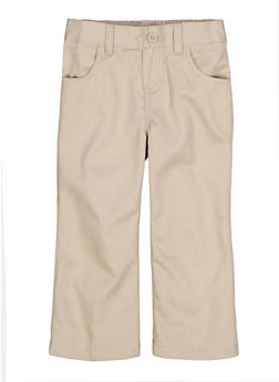 Girls 2T-4T Pull On School Uniform Pants - KHAKI - 5961008930020