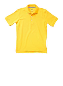 Boys 2T-4T Short Sleeve Pique Polo School Uniform - YELLOW - 5970008930050