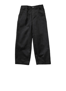 Boys 2T-4T Adjustable Pull-On Pants School Uniform - BLACK - 5980008930050