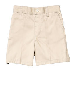 Boys 2T-4T Pull-On Shorts School Uniform - KHAKI - 5981008930050